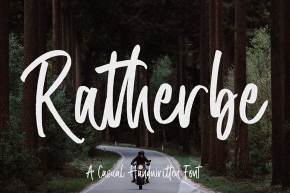 Print on Demand: Ratherbe Script & Handwritten Font By Zane Studio