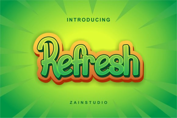 Print on Demand: Refresh Display Font By zainstudio