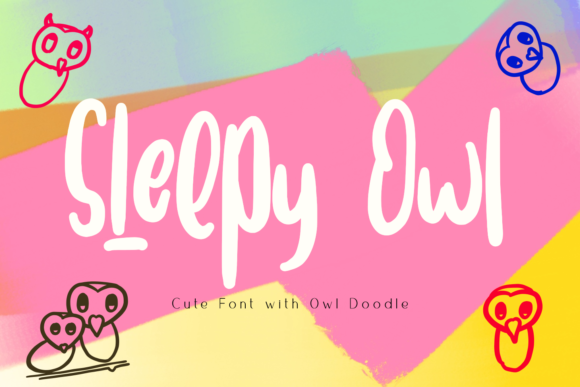 Download Free Sleepy Owl Font By Syukursetiyadi Creative Fabrica for Cricut Explore, Silhouette and other cutting machines.