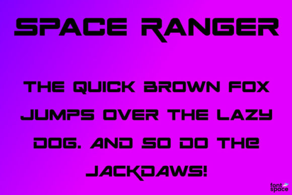 Print on Demand: Space Ranger Display Font By iconain