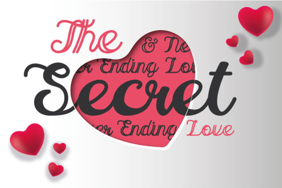 Print on Demand: The Secret Love Skript & Handgeschrieben Schriftarten von AwesomeGraphic