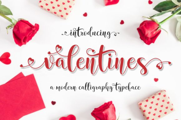 Print on Demand: Valentines Script & Handwritten Font By screen letter
