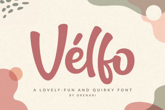 Print on Demand: Velfo Display Font By Orenari - Image 1