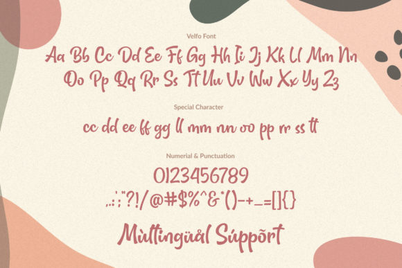 Print on Demand: Velfo Display Font By Orenari - Image 2