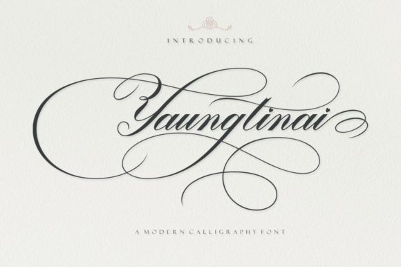Print on Demand: Yaungtinai Script & Handwritten Font By IM Studio