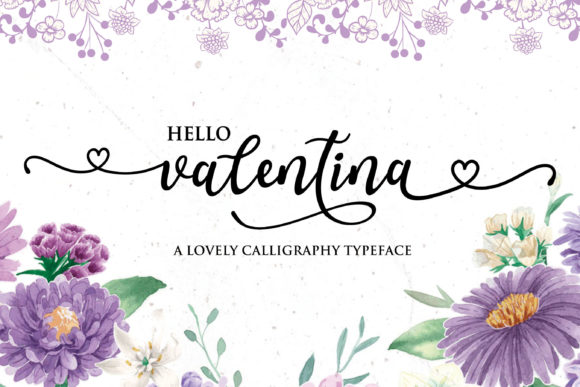 Print on Demand: Valentina Script & Handwritten Font By Girinesia