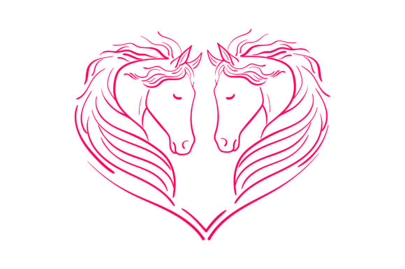 Heart of Horses Animales Archivo de Corte Craft Por Creative Fabrica Crafts