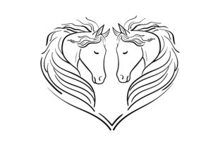 Heart of Horses Animals Craft Cut File By Creative Fabrica Crafts 2