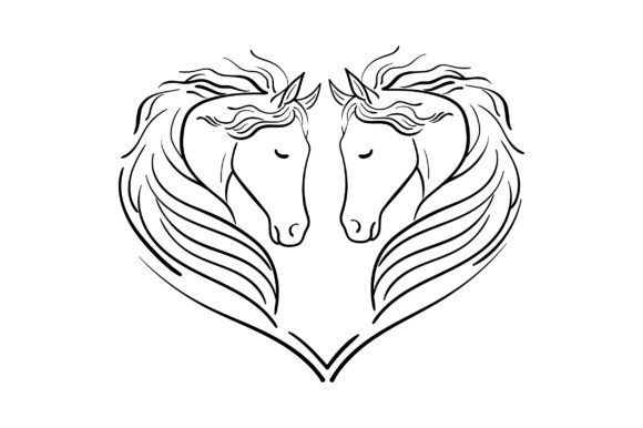 Heart of Horses Animals Craft Cut File By Creative Fabrica Crafts - Image 2