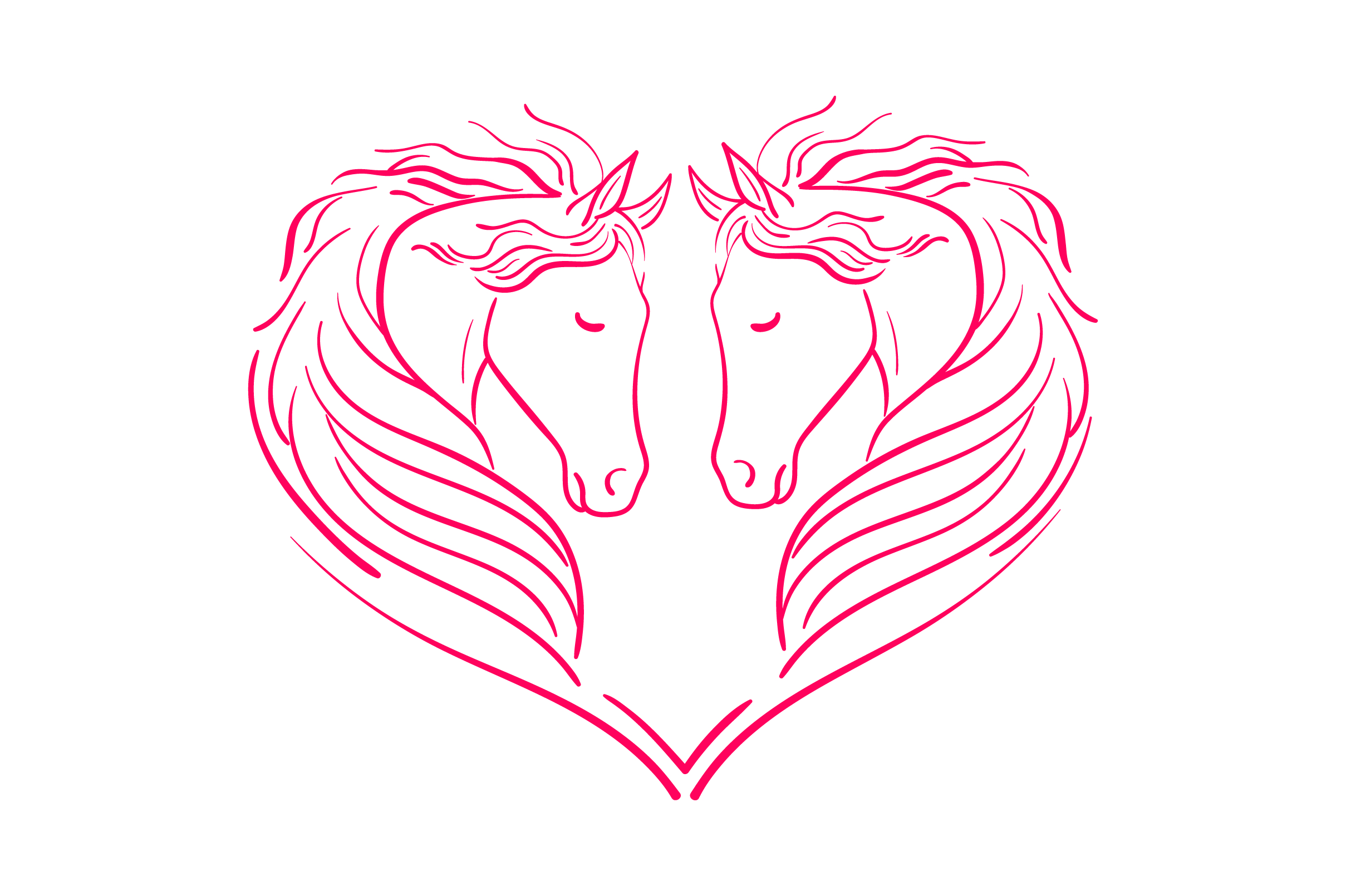 Download Free Heart Of Horses Svg Cut File By Creative Fabrica Crafts for Cricut Explore, Silhouette and other cutting machines.