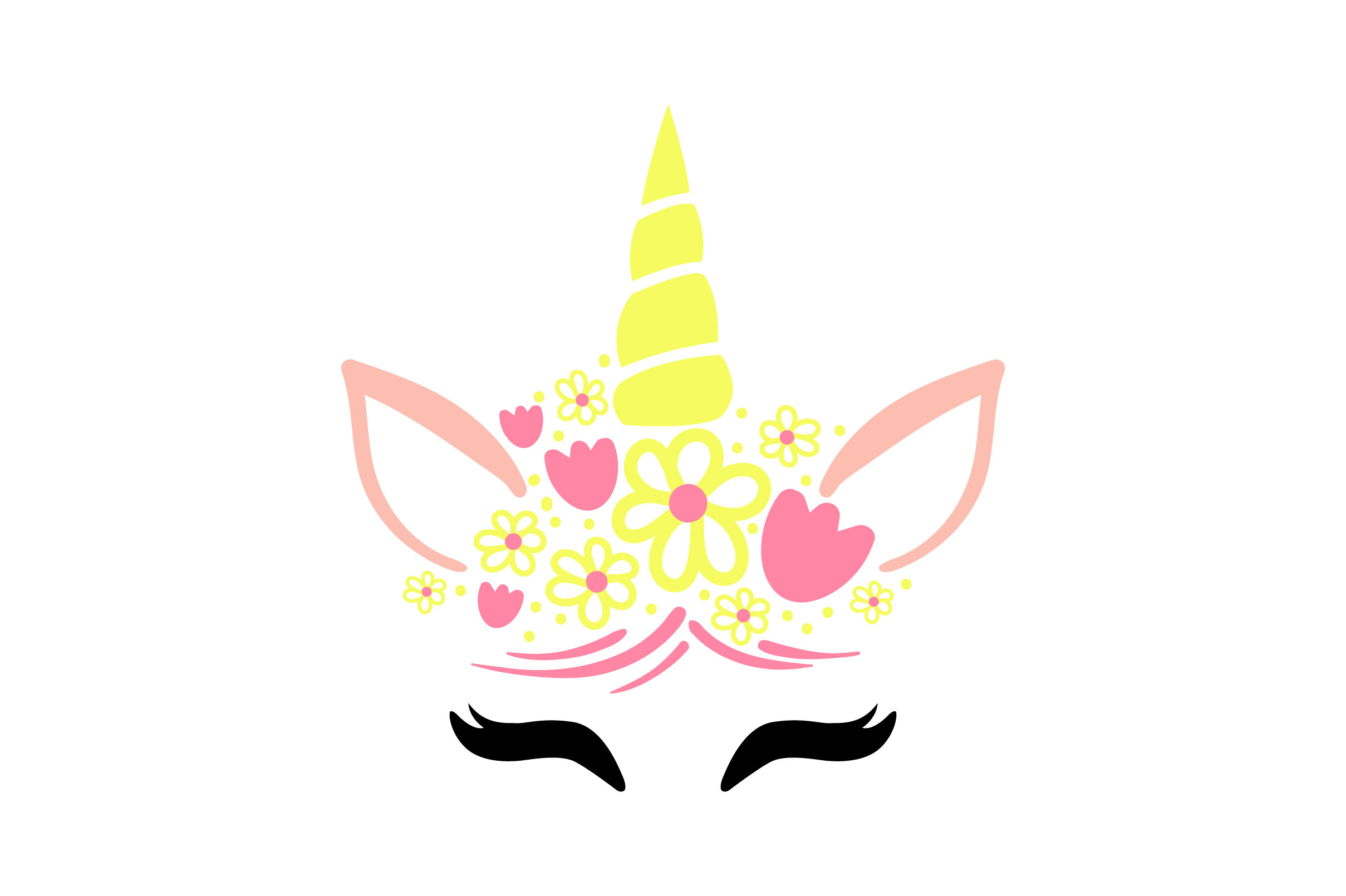 Download Free Unicorn Face Svg Cut File By Creative Fabrica Crafts Creative for Cricut Explore, Silhouette and other cutting machines.