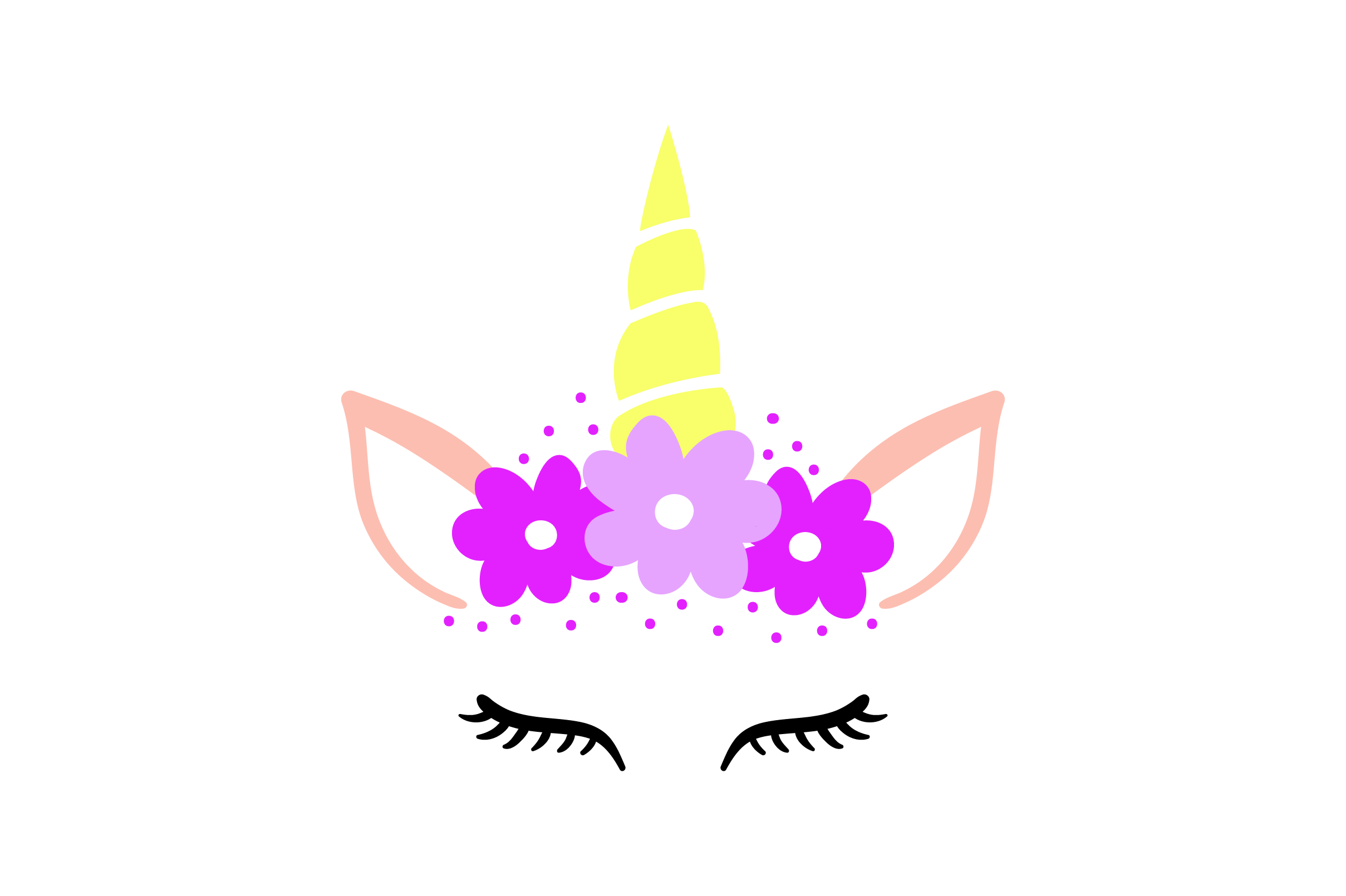 Download Free Unicorn Face With Flowers Svg Cut File By Creative Fabrica for Cricut Explore, Silhouette and other cutting machines.