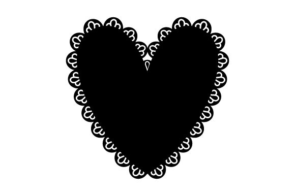 Download Free Heart With Black Lace Svg Cut File By Creative Fabrica Crafts for Cricut Explore, Silhouette and other cutting machines.