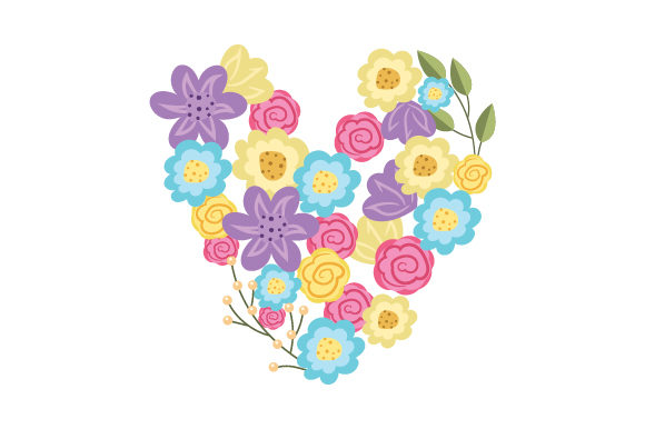 Flower Heart Valentine's Day Craft Cut File By Creative Fabrica Crafts