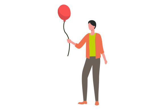 Download Free Person Holding Balloon Svg Cut File By Creative Fabrica Crafts for Cricut Explore, Silhouette and other cutting machines.