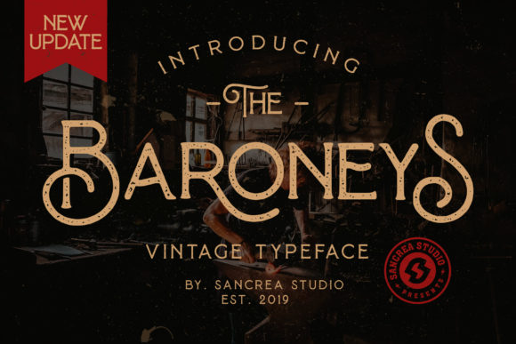Print on Demand: Baroneys Display Font By Sant