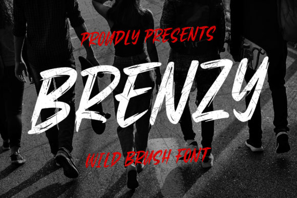 Print on Demand: Brenzy Display Font By Blankids Studio