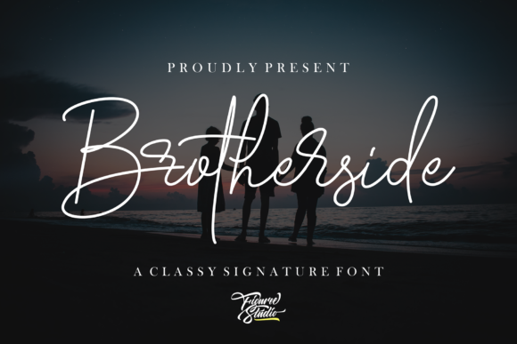 Print on Demand: Brotherside Script & Handwritten Font By figuree studio