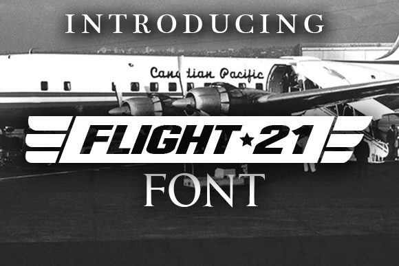 Print on Demand: Flight 21 Decorative Font By vladimirnikolic
