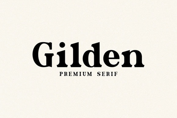 Print on Demand: Gilden Serif Font By Hanzel Studio - Image 1