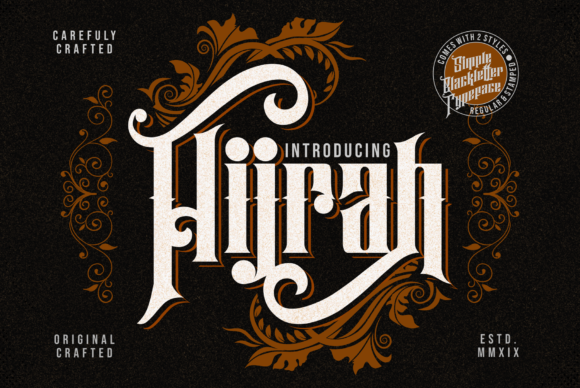 Print on Demand: Hijrah Blackletter Font By Omotu - Image 1