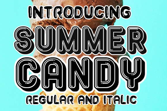 Print on Demand: Summer Candy Display Font By vladimirnikolic