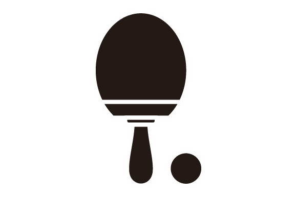 Download Free Table Tennis Hobies Glyph Icon Logo Graphic By Graphicrun123 for Cricut Explore, Silhouette and other cutting machines.