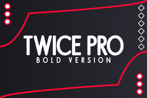 Print on Demand: Twice Pro Bold Sans Serif Font By Huntype