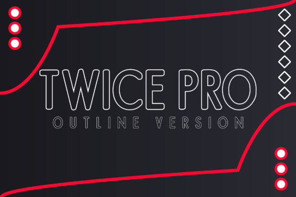 Print on Demand: Twice Pro Outline Display Font By Huntype