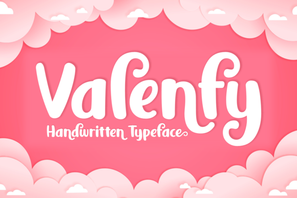 Print on Demand: Valenfy Script & Handwritten Font By Keithzo (7NTypes) - Image 1