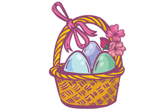 Easter Basket Easter Craft Cut File By Creative Fabrica Crafts