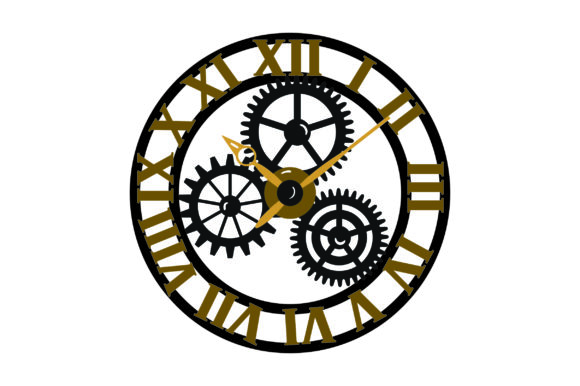 Steampunk Uhr Steampunk Plotterdatei von Creative Fabrica Crafts