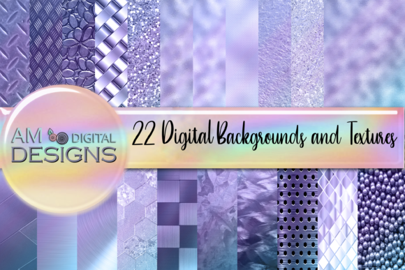Print on Demand: 22 Purple Textures and Backgrounds Graphic Backgrounds By Angela Wheeland