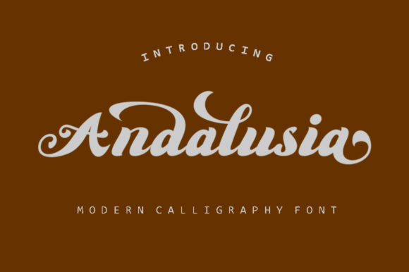 Print on Demand: Anadalusia Script & Handwritten Font By Shape Studio - Image 1