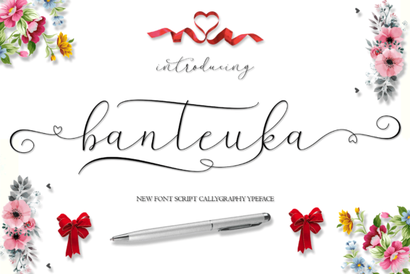 Print on Demand: Banteuka Script & Handwritten Font By MYdesign