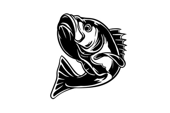 Download Free Bass Fish Vintage Silhouette Graphic By Grappix Studio for Cricut Explore, Silhouette and other cutting machines.