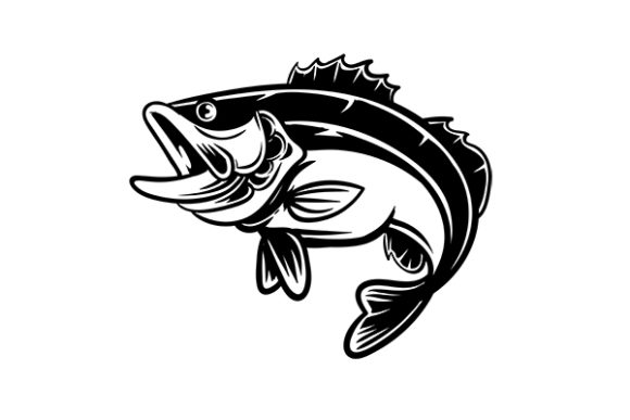 Download Free Bass Fish Vintage Silhouette Vector Graphic By Grappix Studio SVG Cut Files