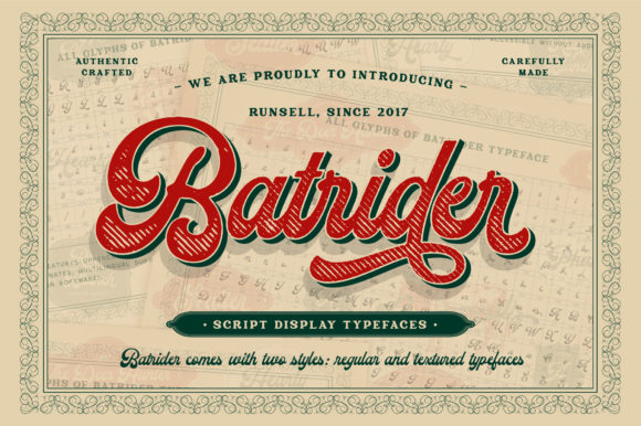 Print on Demand: Batrider Display Font By Runsell Graphic