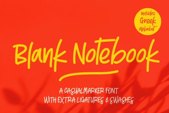 Print on Demand: Blank Notebook Script & Handwritten Font By georgebourle