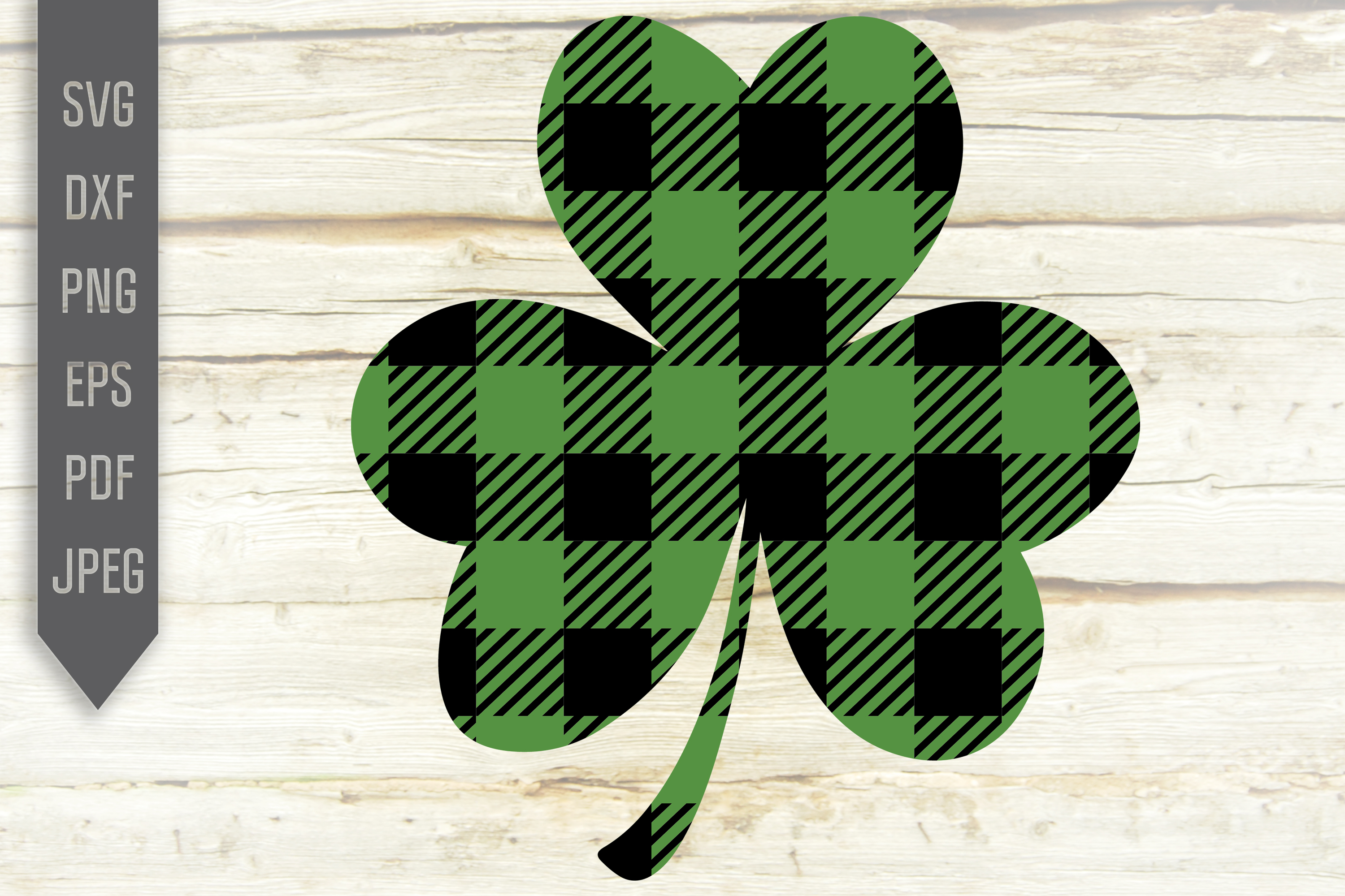 Download Free Buffal Plaid Shamrock Graphic By Svglaboratory Creative Fabrica for Cricut Explore, Silhouette and other cutting machines.
