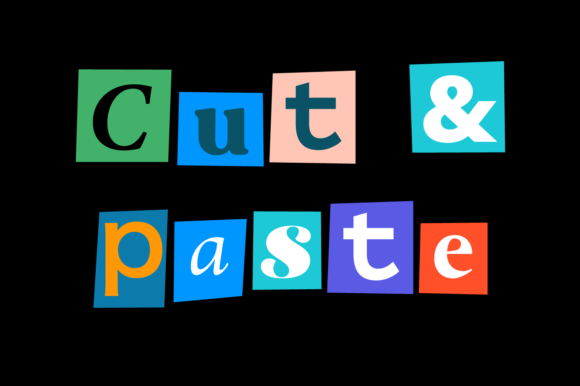 Print on Demand: Cut & Paste Display Font By yai.salinas