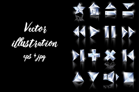 Diamond Icons Graphic Icons By Blackmoon9