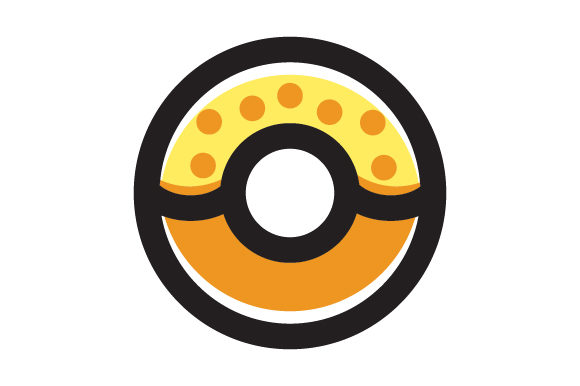 Donut Food Line Icon Logo Design Graphic By Graphicrun123