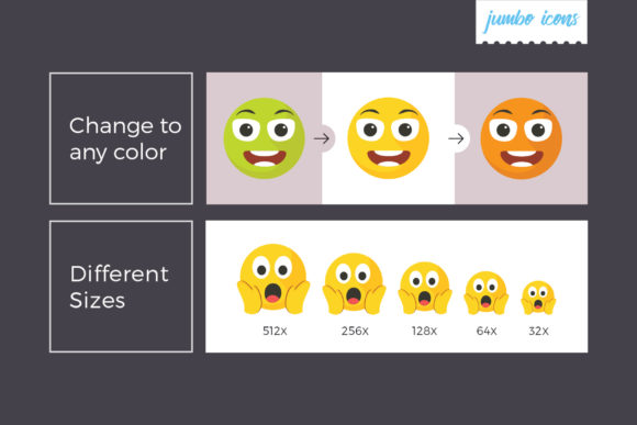 Print on Demand: Emojis - Smiley Vector Icons Graphic Icons By jumboicons - Image 3