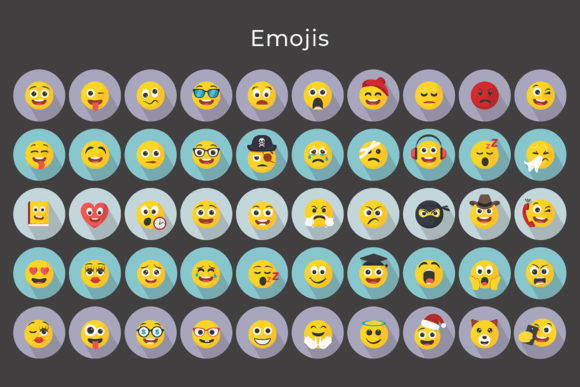 Print on Demand: Emojis - Smiley Vector Icons Graphic Icons By jumboicons - Image 5
