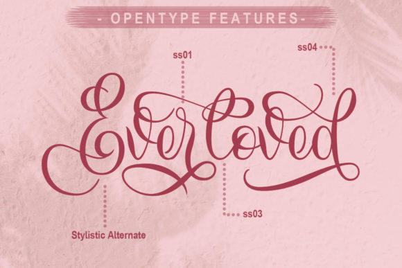 Print on Demand: Everloved Script & Handwritten Font By Doehantz Studio - Image 3