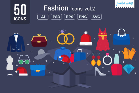 Print on Demand: Fashion Vector Icons Graphic Icons By jumboicons - Image 1