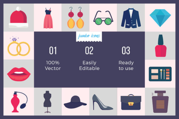 Download Free Fashion Vector Icons Graphic By Jumboicons Creative Fabrica for Cricut Explore, Silhouette and other cutting machines.