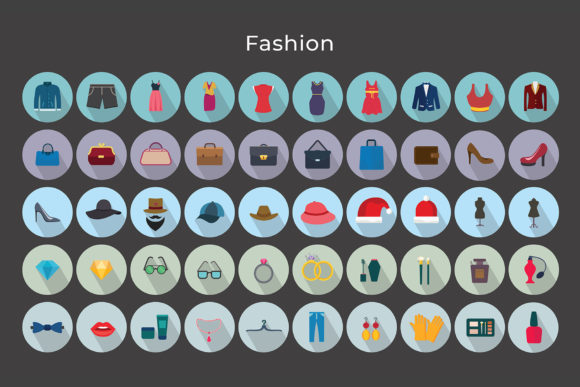 Print on Demand: Fashion Vector Icons Graphic Icons By jumboicons - Image 5