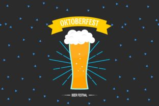 Download Free Flat Design Oktoberfest Mugs Of Beer Graphic By Deemka Studio for Cricut Explore, Silhouette and other cutting machines.